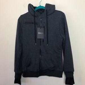 Baubax Womens Sweatshirt Travel Charcoal Grey Med